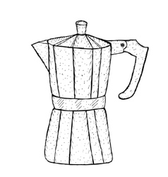 geyser coffee sketch hand drawing style vector image