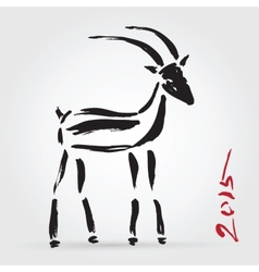 Goat 2015 New year Symbol vector image