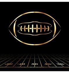 Golden american football vector