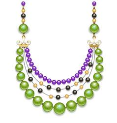 Green beads vector