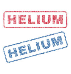 Helium textile stamps vector