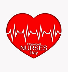 International nurses day with red vector
