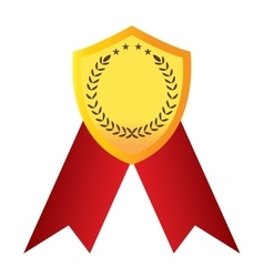 Isolated golden medal vector