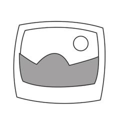 Landscape photograph icon vector