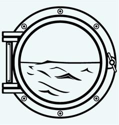 Metallic porthole vector image