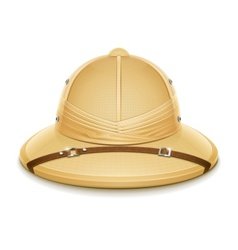 pith helmet hat for safari vector image vector image