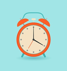 Retro alarm clock Flat style vector image
