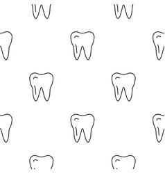 seamless pattern teeth vector image