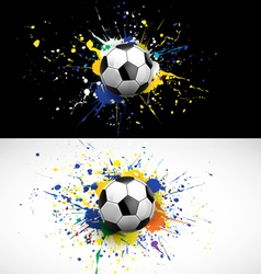 soccer ball dash on colorful background vector image