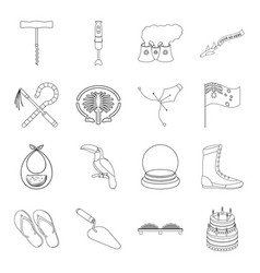 Sports history travel and other web icon in vector