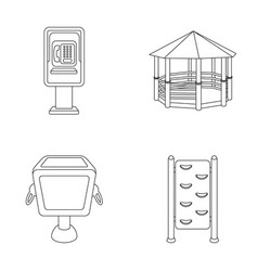 Telephone automatic gazebo garbage can wall for vector