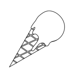 Ice cream cone icon vector