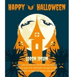 Halloween dark party invitation poster vector image