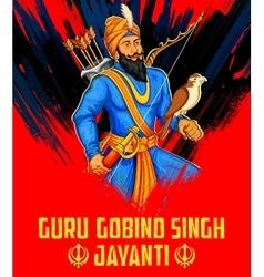 Happy guru gobind singh jayanti festival for sikh vector