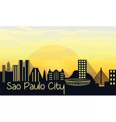 Sao Paulo City Silhouette vector image