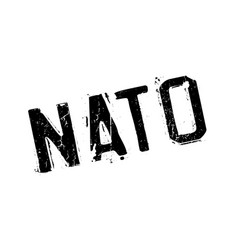 Nato rubber stamp vector