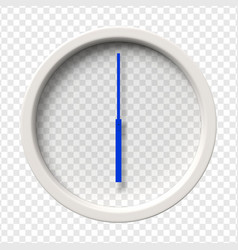 Realistic wall clock vector