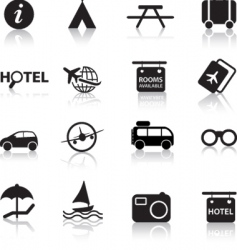 Global travel icons vector