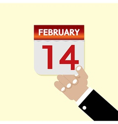 14th February Calendar vector image