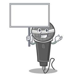 Bring board microphone cartoon character design vector