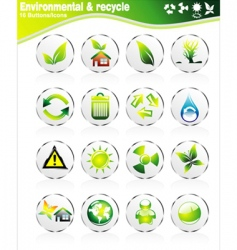environmetal icons vector image