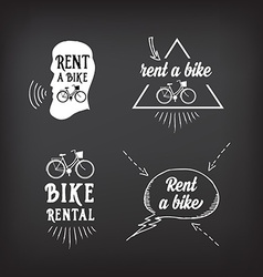 Bike rental design concept vector