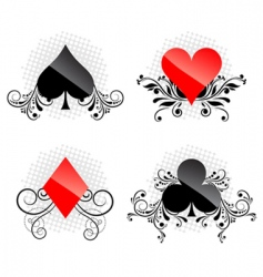 Decorative card symbols vector