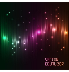 digital equalizer with colored lights vector image