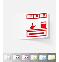 Realistic design element cash desk vector