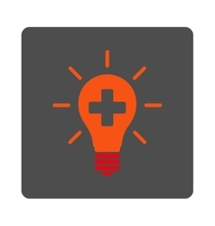 Medical electrical lamp flat button vector