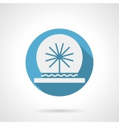 Spherical fountain round flat icon vector