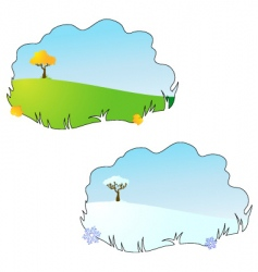 Season autumn and winter vector