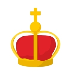 A royal crown icon cartoon style vector