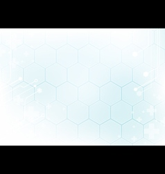Abstract geometric in soft blue background vector