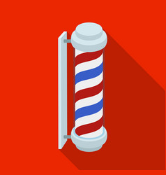 Barber logobarbershop single icon in flat style vector