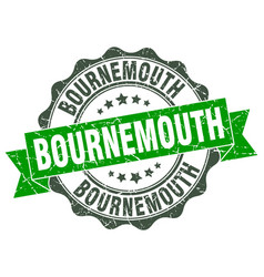 Bournemouth round ribbon seal vector