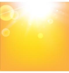 Brilliant orange sunrise vector