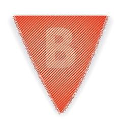 Bunting flag letter b vector