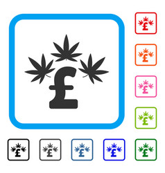 cannabis pound business framed icon vector image