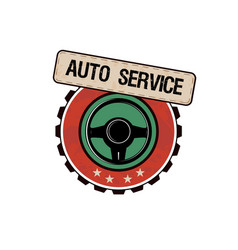 car service labels vector image vector image