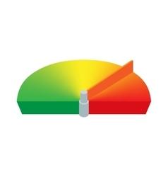 Car speed limit icon cartoon style vector