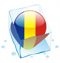 chad button flag vector image