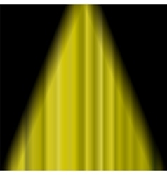 Cinema Closed Yellow Curtain vector image vector image