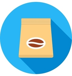 Coffee bag vector