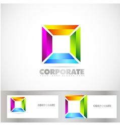 Colored square corporate logo vector image vector image