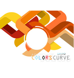 Colors curve scene concepts vector