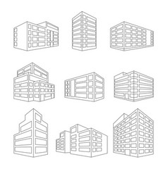 dimensional building as a design web icons - vector image
