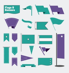 Flags and Banners vector image