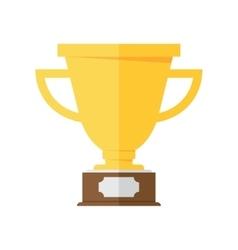 Golden winner cup vector