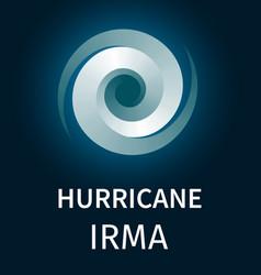 Graphic banner of hurricane irma vector